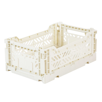 Folding Crates Mini Coconut White Eef Lillemor Ay-kasa