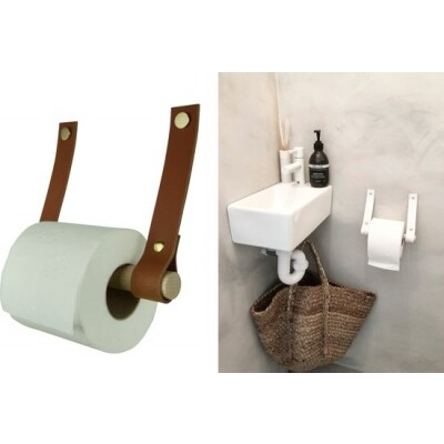 Handles and more toiletrolhouder Cognac
