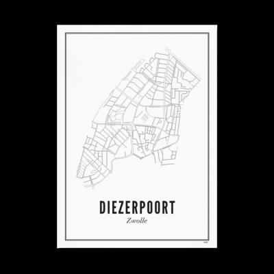 Wijck Zwolle Diezerpoort poster A3 30 x 40