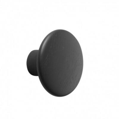 Muuto Dots kapstokhaak Zwart Large Ø 17 cm