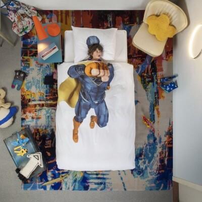 Snurk dekbedovertrek Superhero Blue