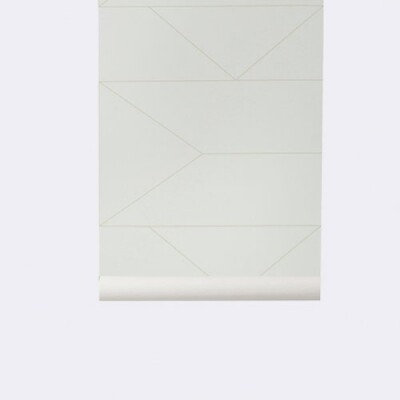Ferm Living Behang Lines off white