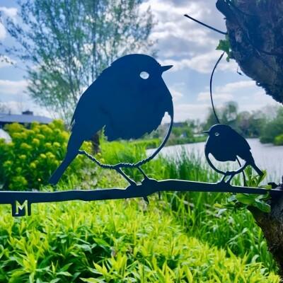 Metalbird Roodborst duo
