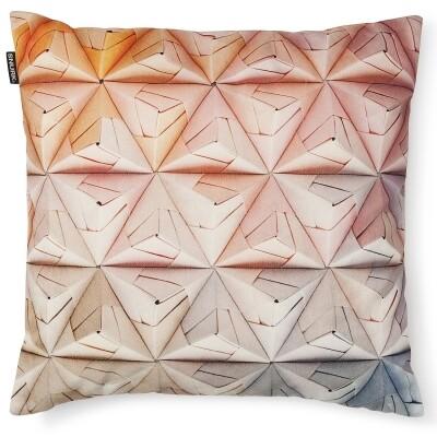 Geogami kussen velour roze 50x50 cm Snurk