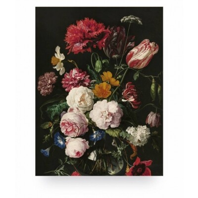 KEK Amsterdam Print op hout Golden Age Flowers 2 small