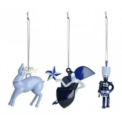 Alessi Blue Christmas ornament AAA08 3 Toy Soldier