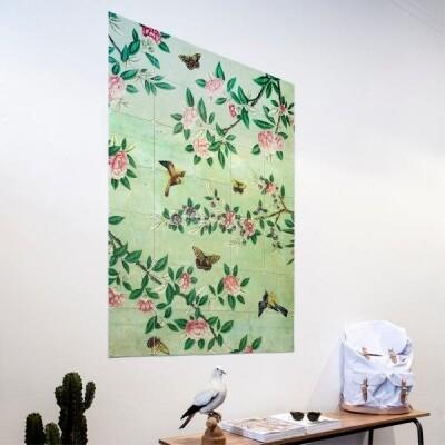 IXXI muurdecoratie Panel from a Chinese wallpaper green