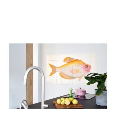 Ixxi wanddecoratie Yellow Fish