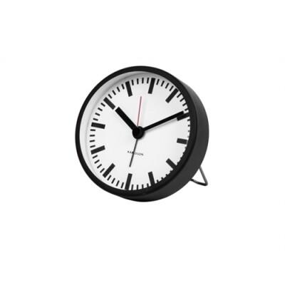 Karlsson Classic alarm klok staal zwart