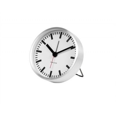 Karlsson Classic alarm klok staal brushed
