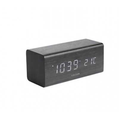 Karlsson Block alarm clock zwart
