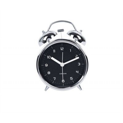 Karlsson Classic Bell chrome alarm klok