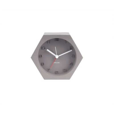 Karlsson Alarm clock Hexagon concrete dark grey