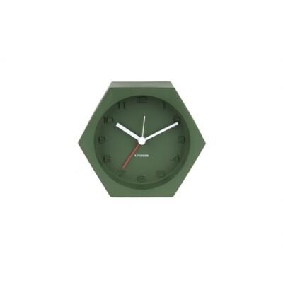 Karlsson Alarm clock Hexagon concrete groen