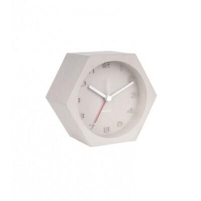 Karlsson Alarm clock Hexagon concrete