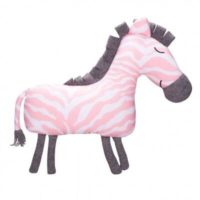 Kidsdepot Zebra knuffel kussen roze