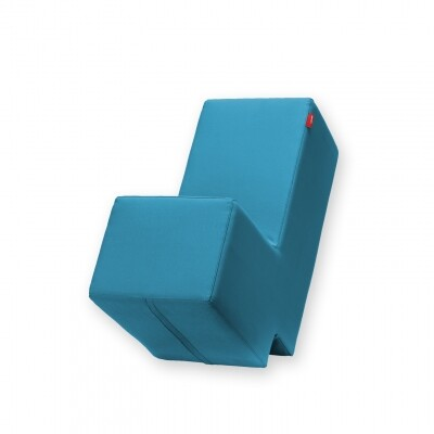 Lummel zitobject petrol blauw
