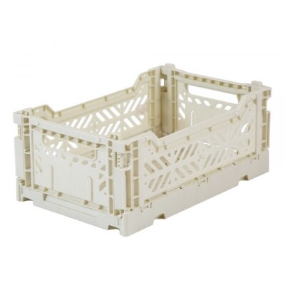 Folding Crates Mini Light Grey Eef Lillemor