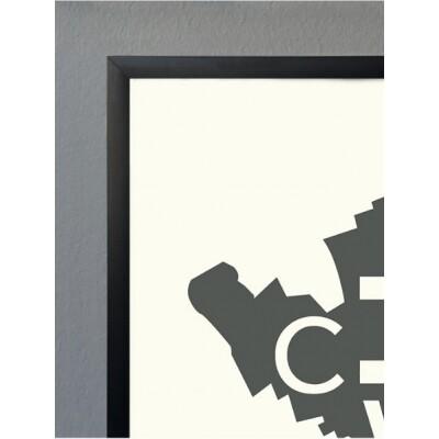 Kortkartellet 50 x 70 lijst zwart