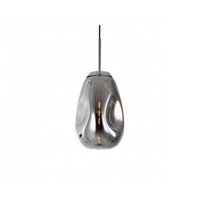 Leitmotiv hanglamp Blown Glass Chrome medium