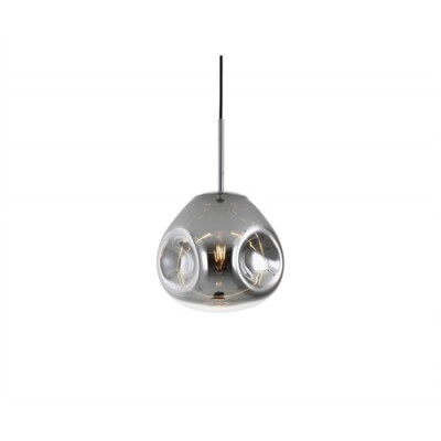 Leitmotiv hanglamp  Blown Glass chrome small