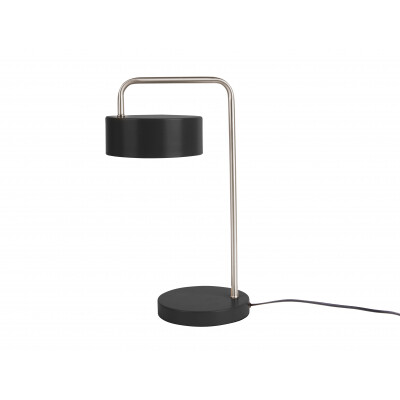 Leitmotiv tafellamp Curve iron mat zwart