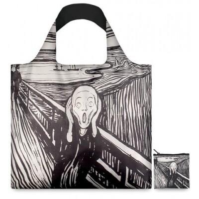 Loqi opvouwbare draagtas The Scream Edvard Munch