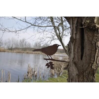 Metalbird vogelsilhouet Merel