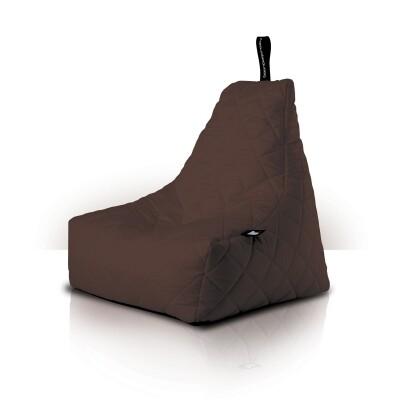 B-Bag zitzak Quilted bruin