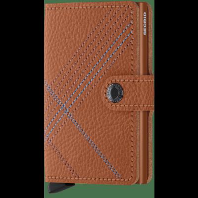 Secrid Mini wallet Stitch Linea Caramello
