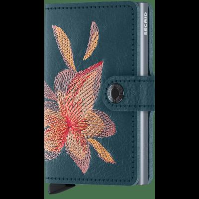 Secrid Mini wallet Stitch Magnolia Petrolio