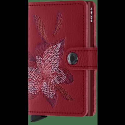 Secrid Mini wallet Stitch Magnolia Rosso