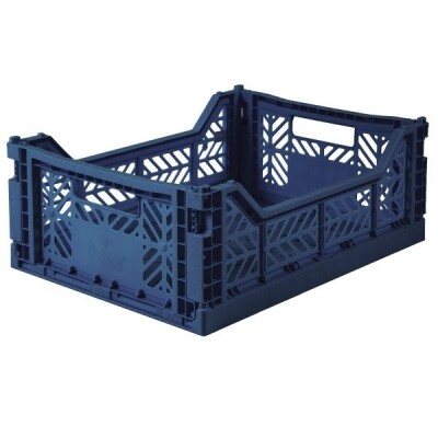 Folding Crates Midi Navy Eef Lillemor