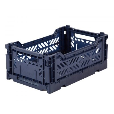 Folding Crates Mini Navy Eef Lillemor