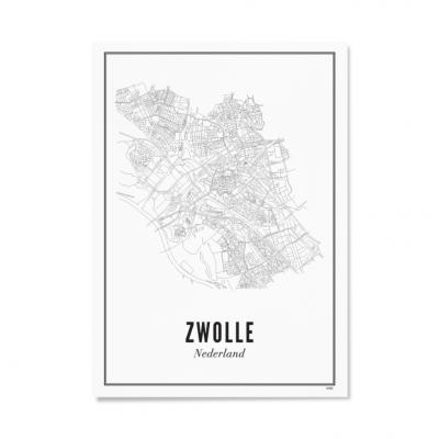 Wijck Zwolle Stad A4 21 x 30