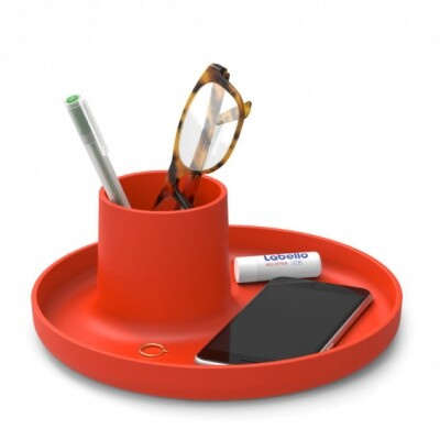 Vitra O-Tidy organizer poppy red