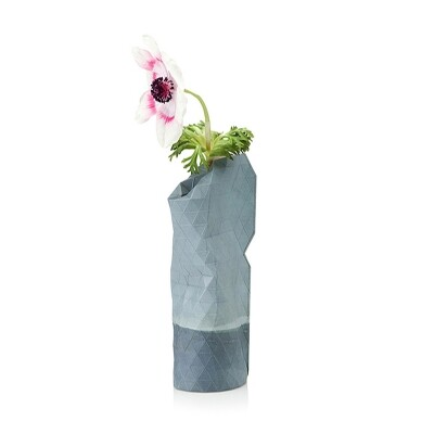 Paper Vase cover small blauw watercolor