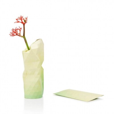 Paper Vase cover yellow tones