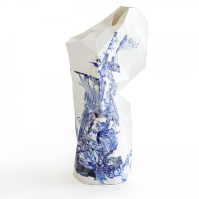 Paper Vase cover Delft Blue Icons