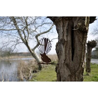 Metalbird vogelsilhouet Paradijsvogel
