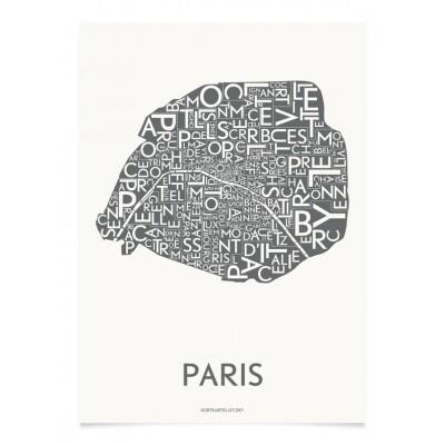 Kortkartellet Parijs poster 50 x 70 cm