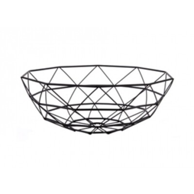 Pt Basket Diamond Cut Large zwart