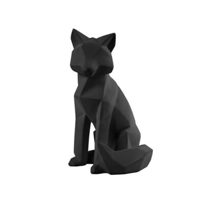 pt Origami Vos beeld zwart groot