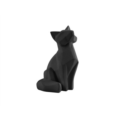 pt Origami Vos beeld zwart klein