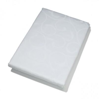 KOOK tafelkleed Damast wit 140 x 240 cm