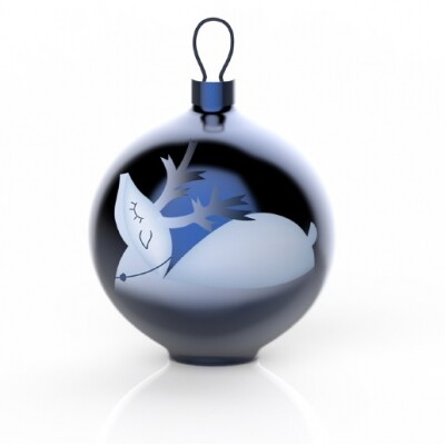 Alessi Blue Christmas kerstbal Renna