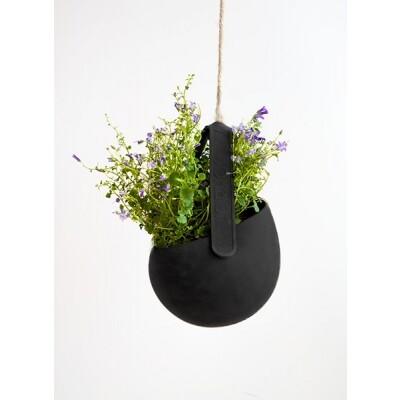 JOKJOR Sling hangende bloempot zwart