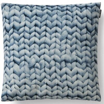 Twirre kussen velour blauw 50x50 cm Snurk