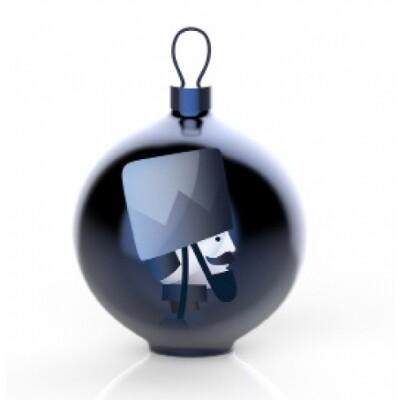 Alessi Blue Christmas kerstbal Soldatino