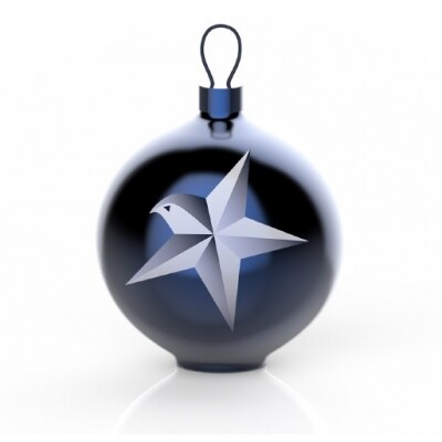 Alessi Blue Christmas kerstbal Stella